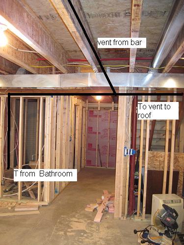 help with basement bathroom vent diy