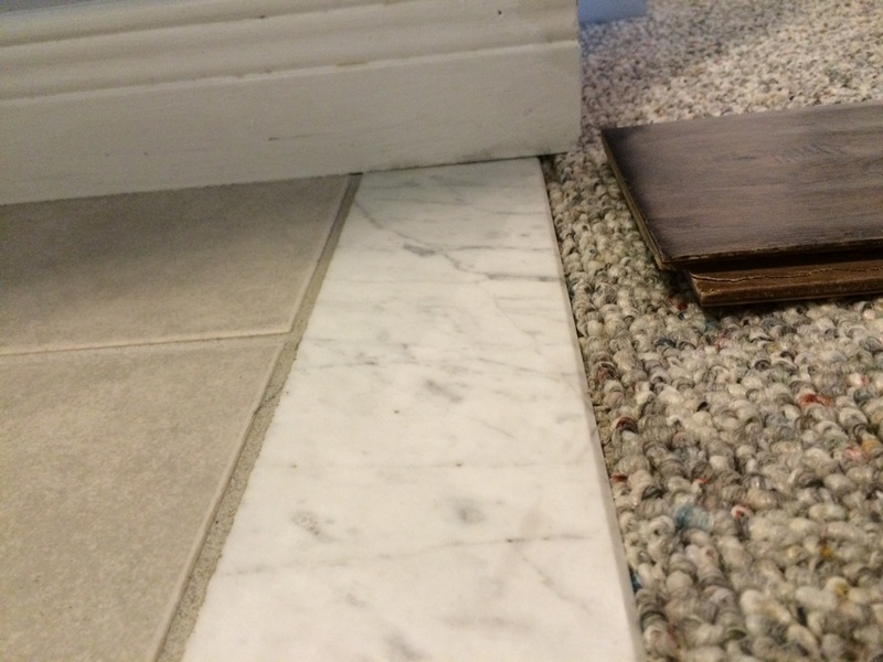 how do i remove this marble threshold