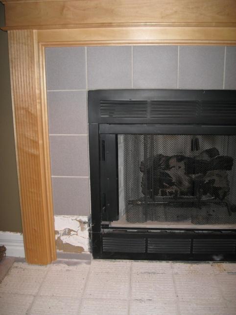 replacing fireplace tile diy home