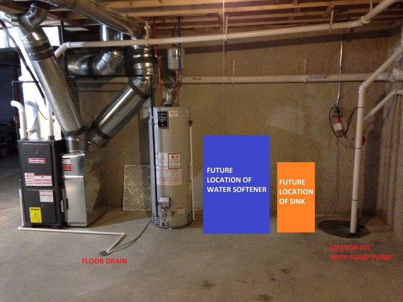 drain sink into ejector pit diy home