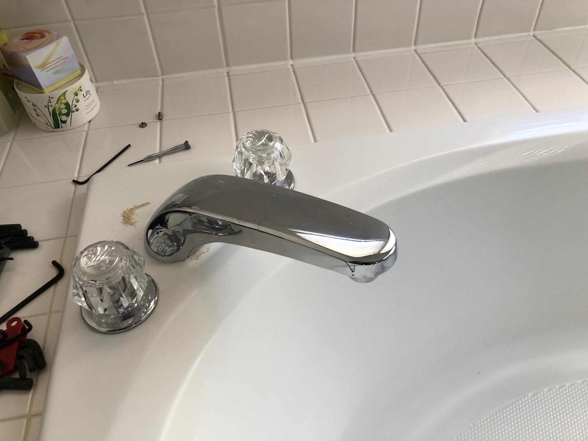 removing delta tub faucet diy home