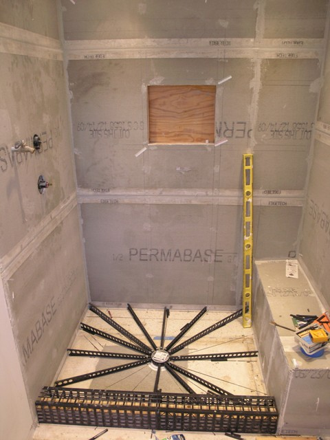 shower pan liner in tampa shower