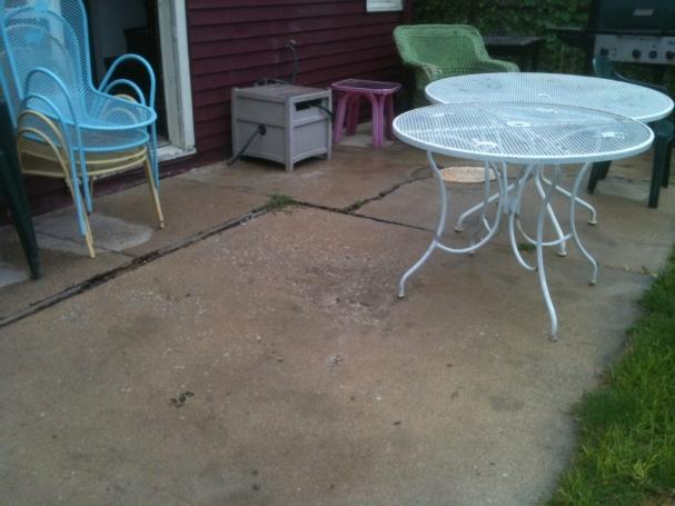 leveling exterior concrete patio pad