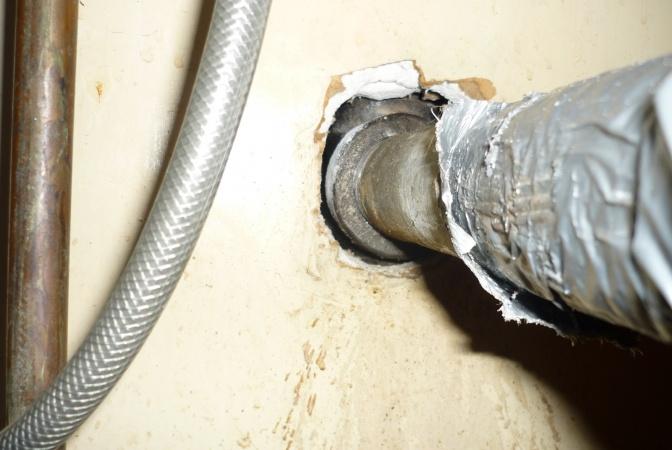 leaking drain pipe under kitchen sink