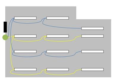 fluorescent lighting layout diy home