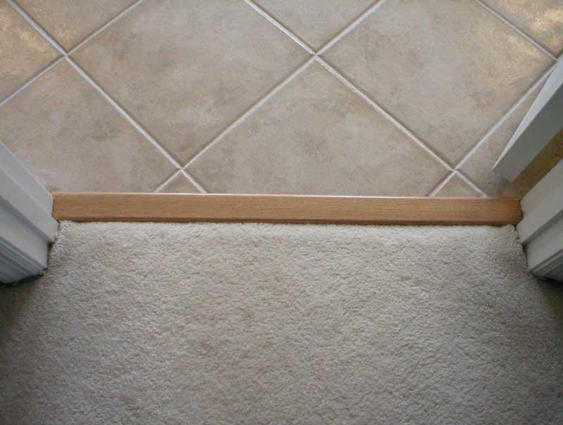 tile to linoleum to tile diy home