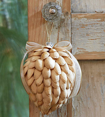 Pistachio Shell Ornaments
