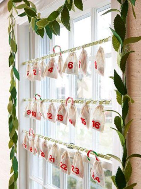 christmas window decor idea advent calendar
