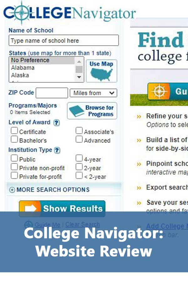 College Search Websites: College Navigator
