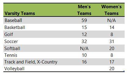 Saint Edward's University athletic team listing