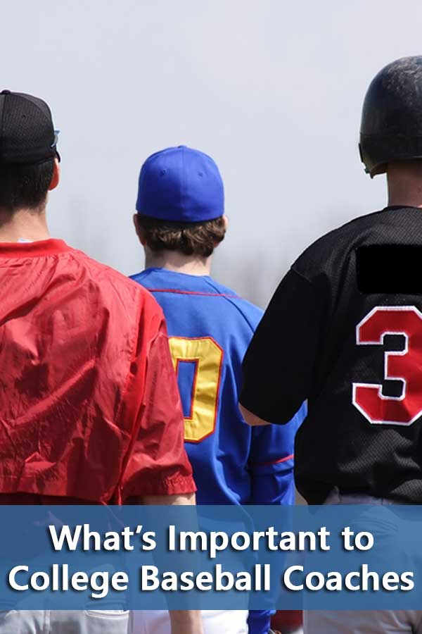 Coaches have no problem finding people who want to baseball for them. Therefore, non-baseball factors are important in the college baseball recruiting process. Stuff like attitude, grades, and test scores.