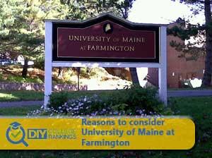 University of Maine at Farmington campus sign