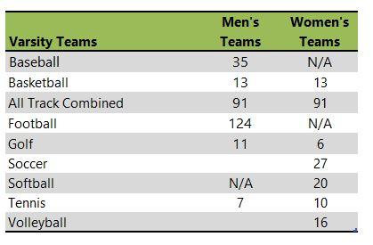 Samford University athletic team listing