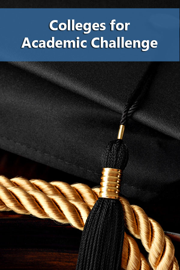 List  of 50-50 colleges providing academic challenge based on Phi Beta Kappa Chapters.