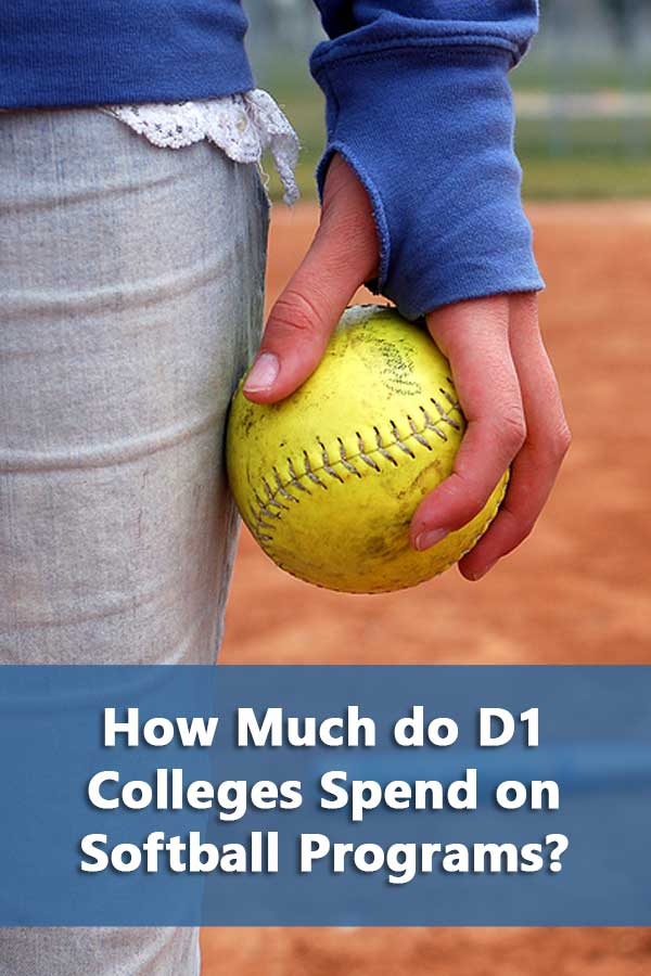 Listing of average college softball expenses for D1 College softball programs.