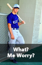 high school baseball player not worrying about how to get recruited to play college baseball