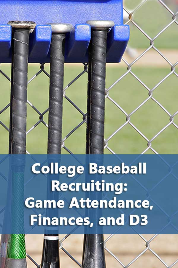 College Baseball Recruiting: Game Attendance, Finances, and D3