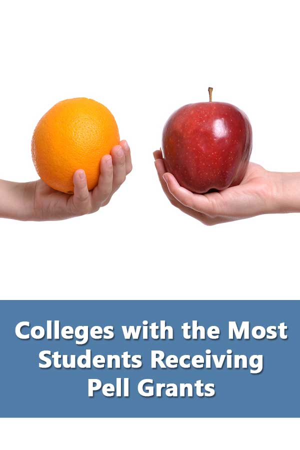 Colleges with the most students receiving Pell Grants and with a 50% or better graduation rate.