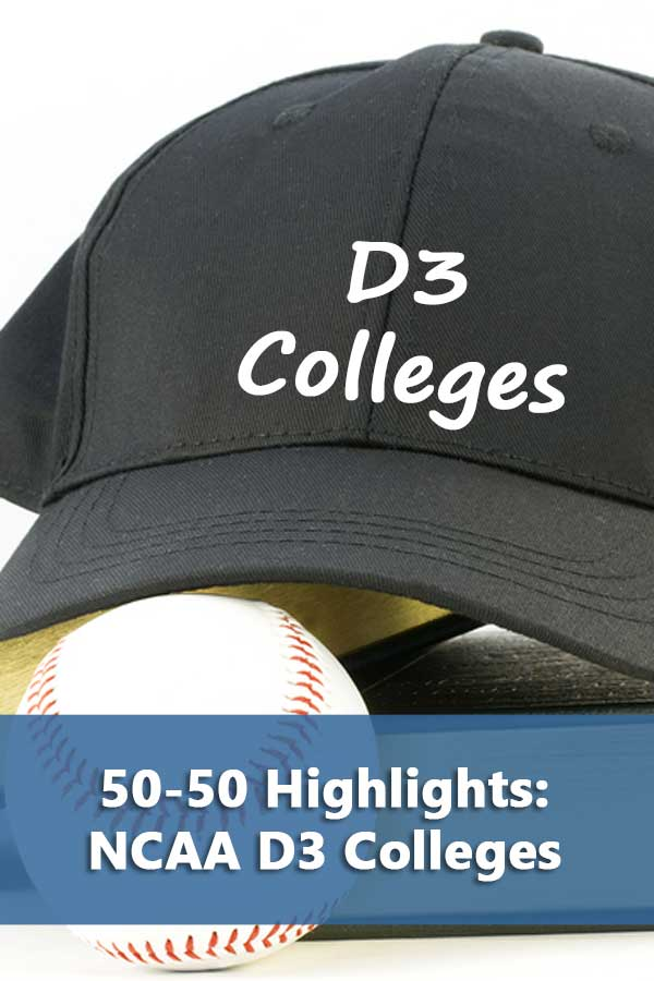 Listing of NCAA D3 colleges that accept at least 50% of students and have at least a 50% graduation rate.