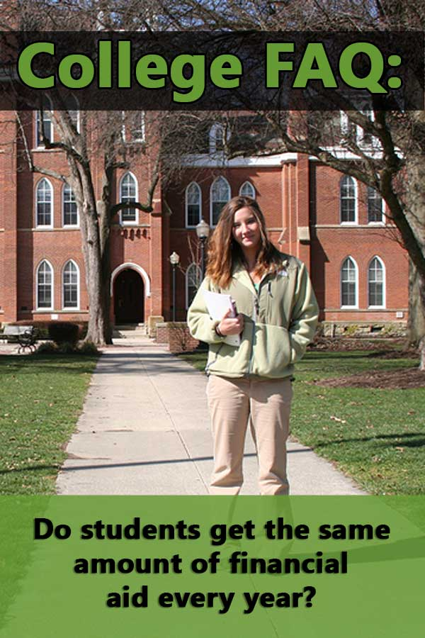 FAQ: Do students get the same amount of financial aid every year?
