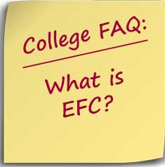 Note asking what is EFC? Expected Family Contribution
