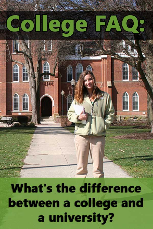 There is no official difference between a college and a university. There are some traditional definitions.