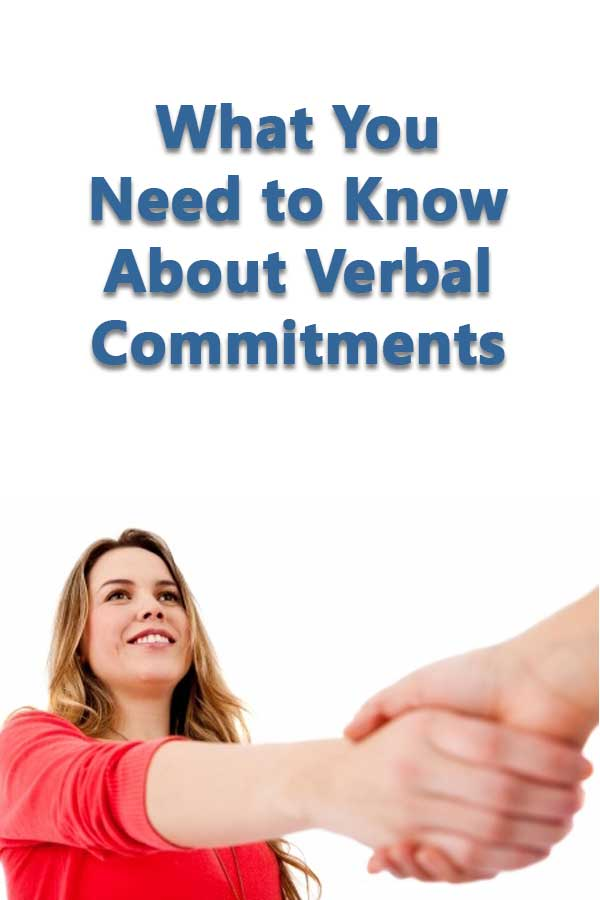 A definition of verbal commitments for college athletics and the National Letter of Intent.