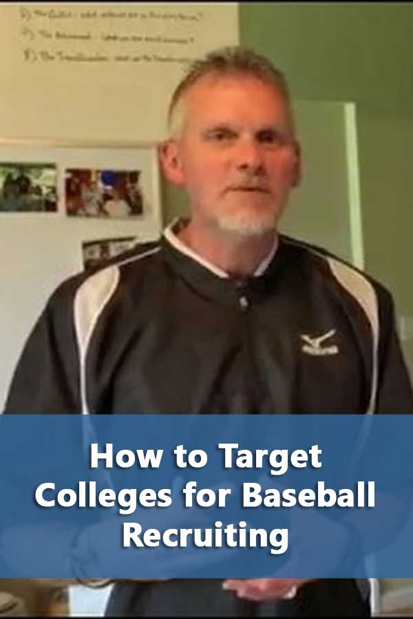 Recruiting Baseball Tips: How to Target Colleges