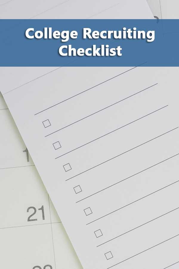 College Recruiting Checklist
