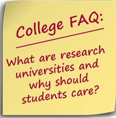 Note asking what are research universities