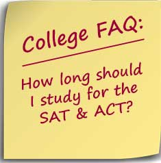 Note asking How long should I study for the SAT & ACT?