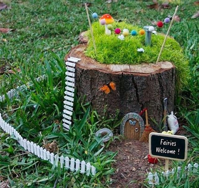 DIY Tree Stump Planter Ideas