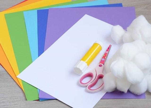 cute rainbow paper kid craft