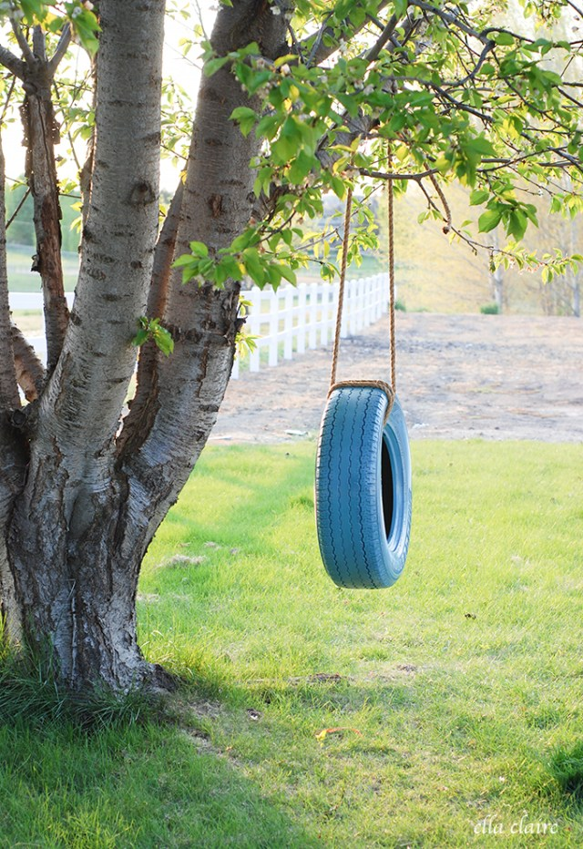 One Rope DIY Tire Swing