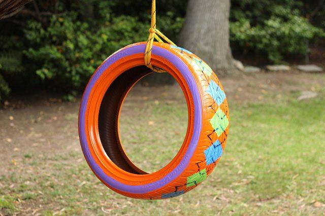 DIY-Painted-Tire-Swing-Kids