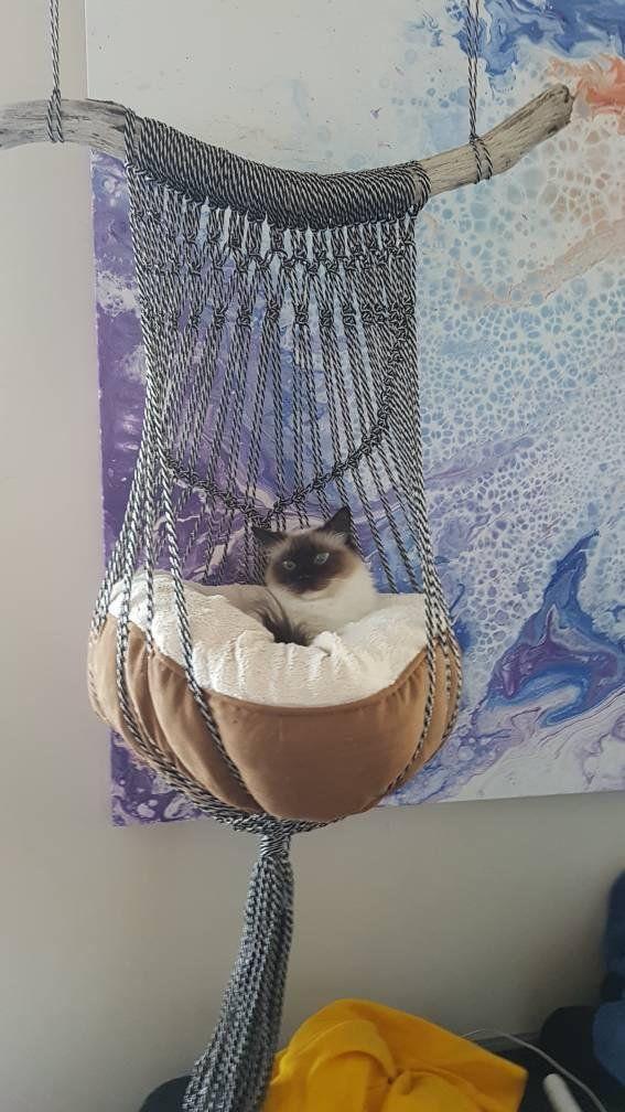 DIY Cat Bed Hanging-Basket