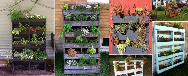 how to make vertical pallet planter garden
