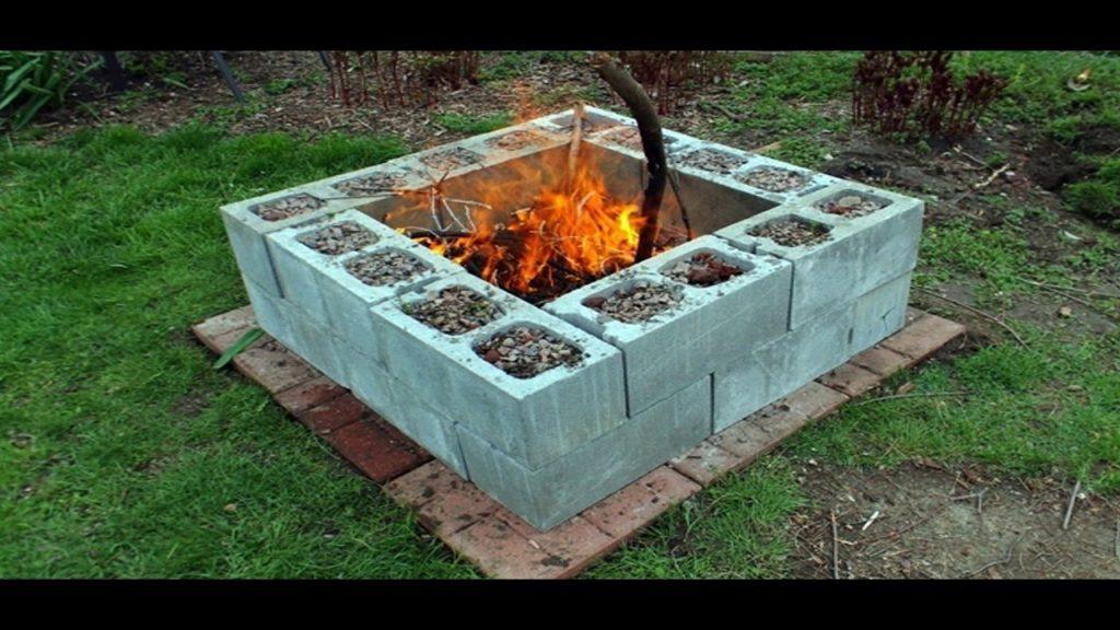 14 Cool DIY Cinder Block Fire Pits - DIYCraftsGuru on Diy Cinder Block Fireplace id=59463
