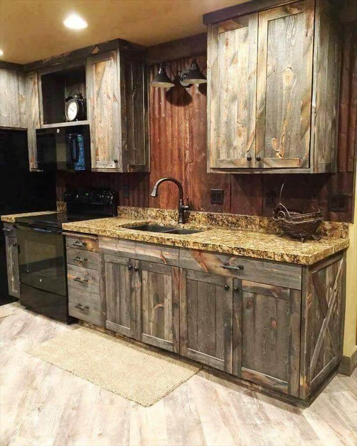 Diy Wooden Pallet Kitchen Cabinets