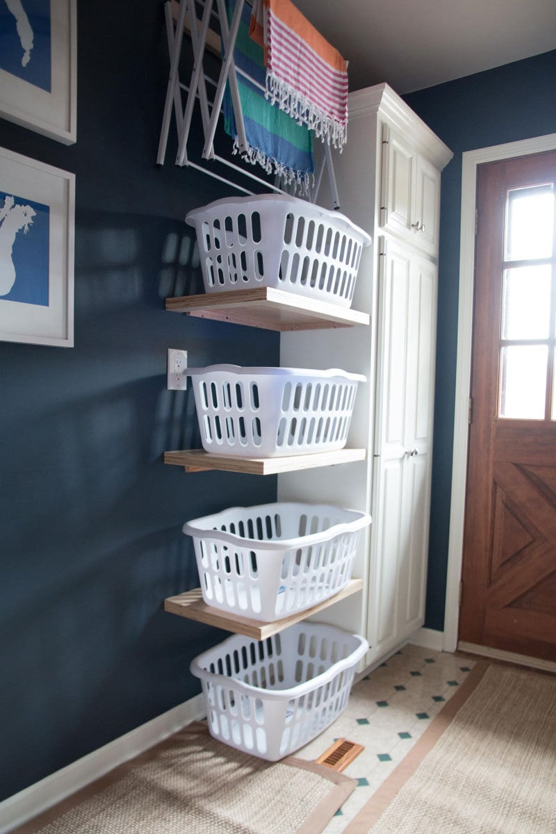 LAUNDRY ROOM IDEAS TO MAKE YOUR'S WORK FOR YOU on Laundry Room Shelves Ideas  id=45476