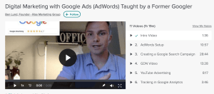 Google Advertising Course