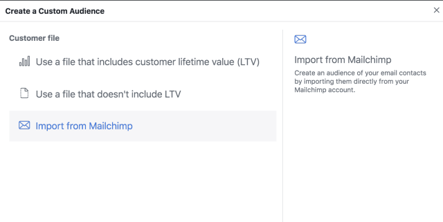 Facebook Customer File