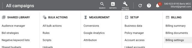 Google Ads - Applying Discount Code