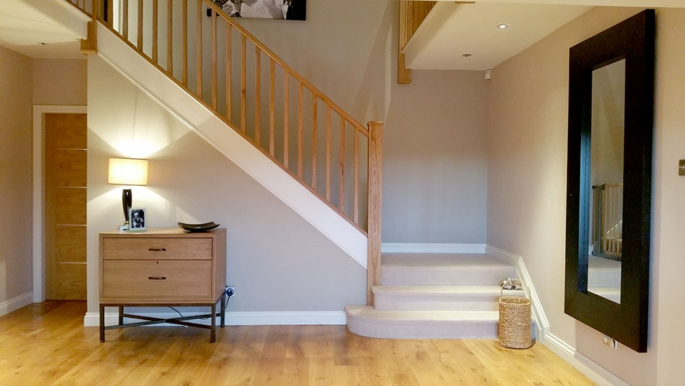 Staircase Parts Type Of Stairs Staircase Terminology Stair   Half Wall Staircase Design   Minimalist   Stair Railing   Frames Up   Architecture Contemporary   Stairway