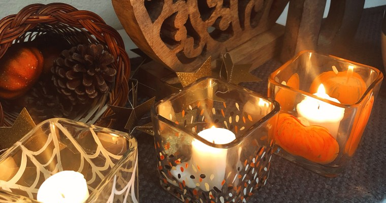 DIY Painted Halloween Candle Holders
