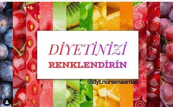 , Diyetinizi Renklendirin, Bursa Uzman Diyetisyen & Fitoterapist Nursena Ardalı