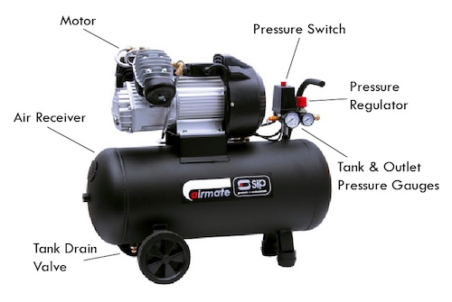 Image showing parts of an air compressor