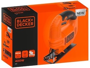 The box of the BLACK+DECKER KS501-GB jigsaw
