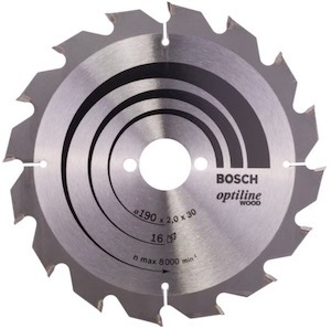 The blade that comes with the Bosch GKS 190 circular saw