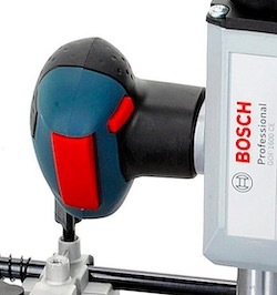The power switch on the Bosch GOF 1600 CE